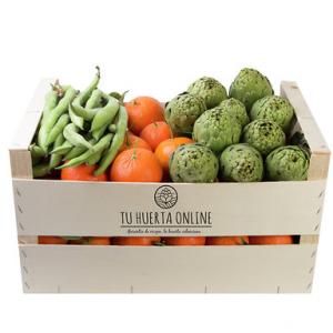 Caja gourmet 15 kg (9 Kg naranjas mesa, 4 Kg alcachofas y 2 Kg habas)