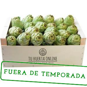 caja de alcachofas