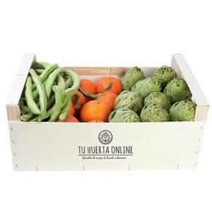 Caja gourmet 5 Kg (2 Kg naranjas mesa, 2 kg alcachofas y 1 Kg habas)