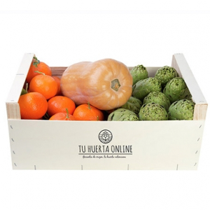 Caja DIURETICA natural 10Kg (6 Kg naranjas mesa, 2kg alcachofas y 1 unid. calabaza cacahuete)