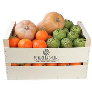 Caja DIURETICA natural 15 Kg (7 kg naranjas mesa, 4 kg alcachofas y 2 unid. calabaza cacahuete)