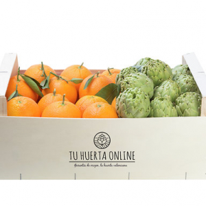 CAJA NARANJAS DE MESA Y ALCACHOFAS 10Kg (7kg naranjas – 3kg alcachofas)