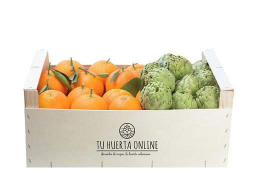 Naranjas de mesa y Alcachofas 10 kg (7 kg naranjas / 3 alcachofas)