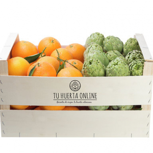 CAJA NARANJAS MESA Y ALCACHOFAS 15Kg (10kg naranjas – 5kg alcachofas)