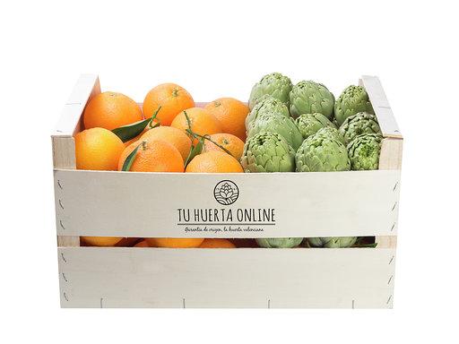 CAJA NARANJAS MESA Y ALCACHOFAS 15Kg (10kg naranjas - 5kg alcachofas) 1