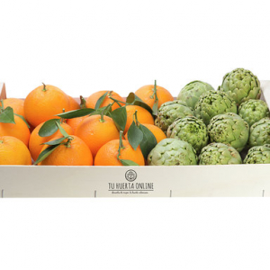 CAJA NARANJAS DE MESA Y ALCACHOFAS 5Kg (4 kg naranjas -1 kg alcachofas)