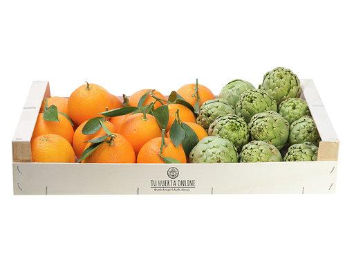 CAJA NARANJAS DE MESA Y ALCACHOFAS 5Kg (3 kg naranjas -2 kg alcachofas) 1