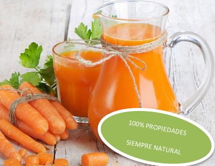 propiedades zumo de naranja y zanahoria