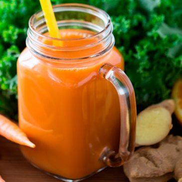 batido naranja y zanahoria